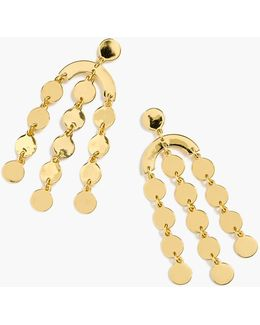 Cascading Disc Earrings