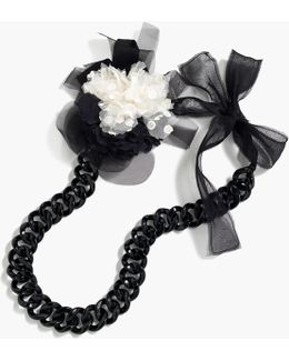 Floral Pin Chain Necklace