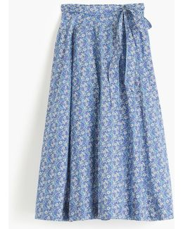 Tie-waist Skirt In Liberty Delilah Cavendish Tana Lawn Floral