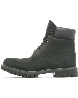 6-inch Basic Bt Men Round Toe Leather Black Work Boot