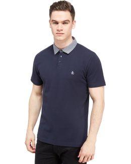 Gingham Collar Polo Shirt