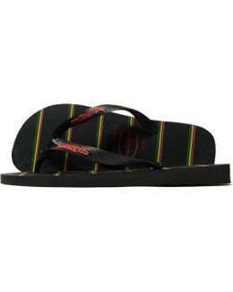 Top Stripes Flip Flops