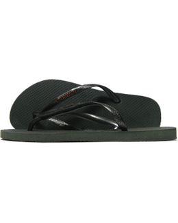 Slim Metallic Flip Flops