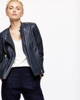 Napa Leather Biker Jacket