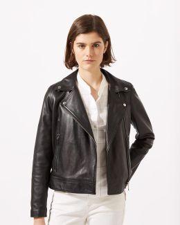 Clean Leather Biker Jacket