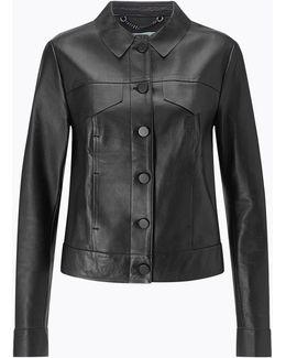 Clean Leather Trucker Jacket