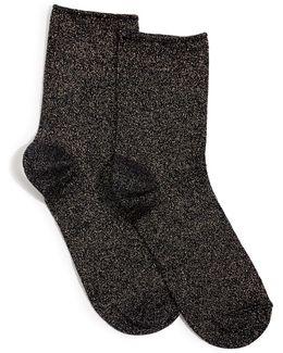 Ella Lurex Ankle Sock