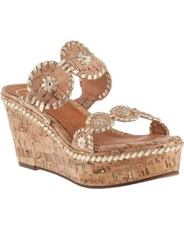 Leigh Wedge Sandal Natural Cork