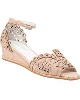 Foray Wedge Sandal Nude Suede