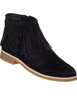 Betsie Fringed Suede Ankle Boots