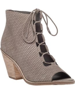 The Slew Woven-Leather Ankle Boots