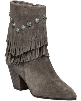 Yardley Vigona Fringed Suede Ankle Boots
