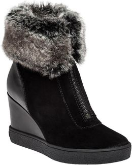 Carlie Suede Wedge Boots