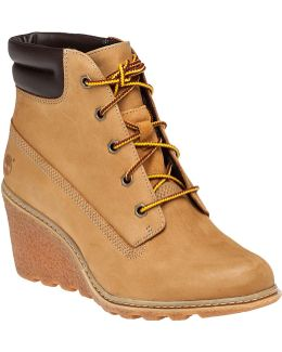 Amston Leather Wedge Boots