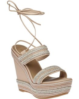 Soutash Braided-Leather Wedges