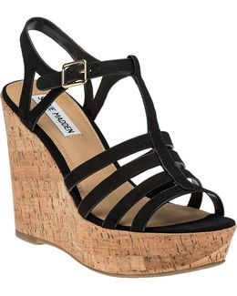 Nalla Leather Wedge Sandals