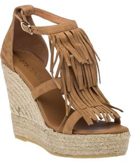 Colony Suede Espadrille Wedges