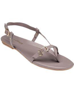 Capri Taupe Leather Sandal