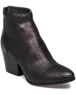1575f Textured Grey Snake Boot