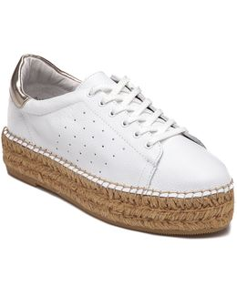 Pace White/gold Espadrille Sneaker