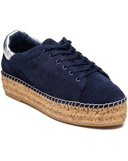 Pace Navy Suede Espadrille Sneaker