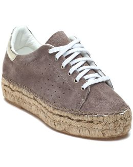 Pace Taupe Suede Espadrille Sneaker