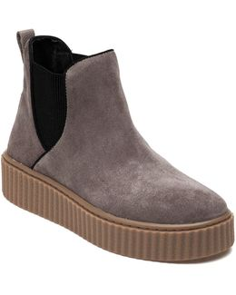 Rollie Taupe Suede Sneaker Bootie
