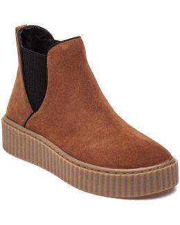 Rollie Cognac Suede Sneaker Bootie