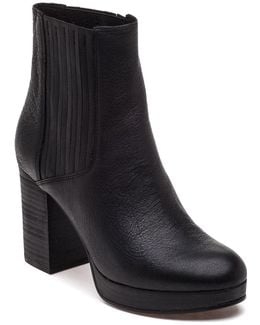 Harp Black Leather Boot