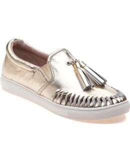 Cheyenne Platino Leather Slip On