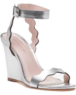 Piper Silver Leather Wedge