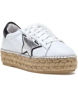 Phase Espadrille Sneaker White/silver