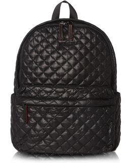 Medium Metro Backpack Black Oxford Nylon