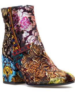 Shakira Boot Patchwork Multi Color Velvet