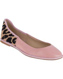Botswana Ballet Flat Rose/leopard