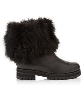 Dana Fox-Fur Leather Boots