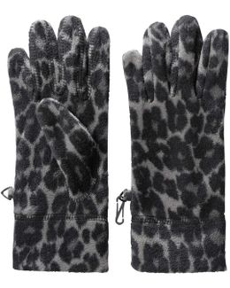 Leopard Print Fleece Gloves