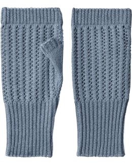 Fingerless Knit Mittens