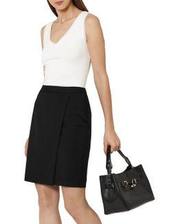 Tailored Wrap Skirt
