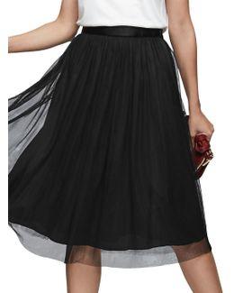 Shields Pleat Midi Skirt