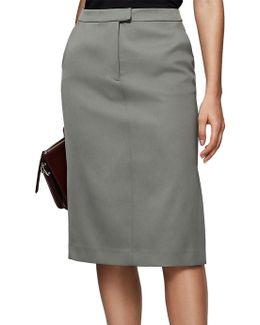 Era Satin Pencil Skirt