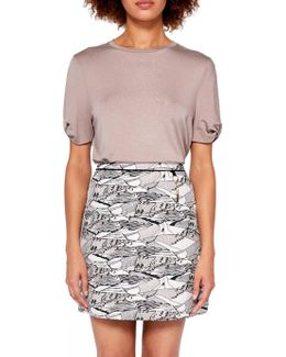 Colour By Numbers Landscape Mini Skirt