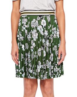 Colour By Numbers Zakai Floral Pleated Skirt