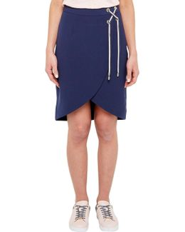 Colour By Numbers Yooy Crossover Front Skirt