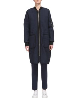 Lini Quilted Longline Parka Coat