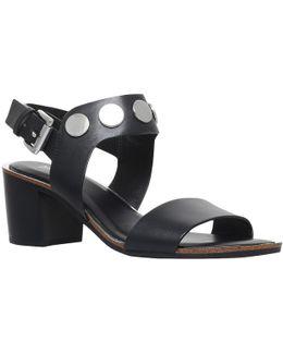 Reggie Studded Mid Heeled Sandals