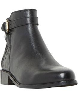 Peeti Block Heeled Ankle Loafer Boots