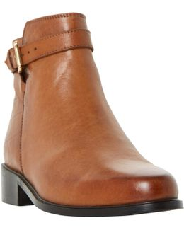 Poppy Block Heeled Ankle Boots