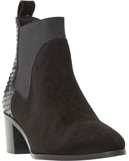 Oprentice Block Heeled Ankle Boots