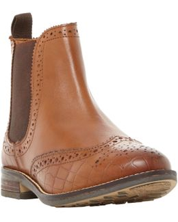 Wide Fit Quentons Brogue Chelsea Boots
